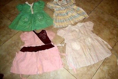 Vintage Childrens Clothing~Group of Four Little Cotton Summer Dresses