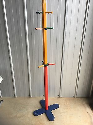 Children's Wooden Giant Coloured Pencil Hat/Bag Stand - Used