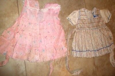 Childrens Vintage Clothing~ 2 Little Girls Tiny Little Dresses