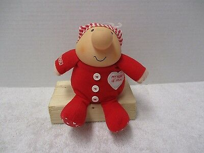 """Vintage 1990 Tom Wilson Ziggy Valentines Day My Heart is Yours Plush Toy 6"""" RARE"""