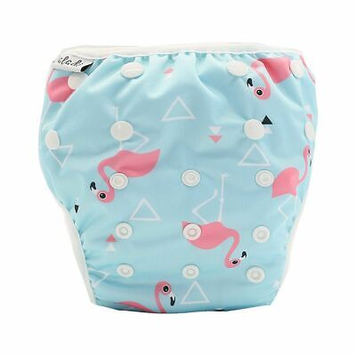 Reusable Swim Nappy Pant Diaper Newborn Baby Toddler Swimming Unisex Flamingo