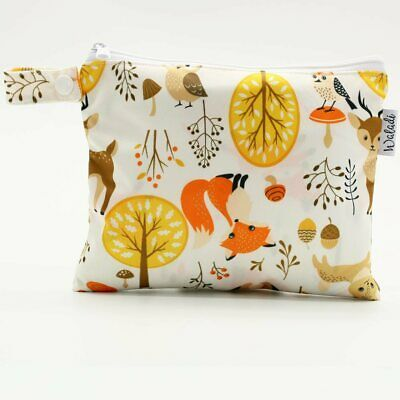Small Waterproof Wet Bag with Zip 19 x 16cm - Forest Design