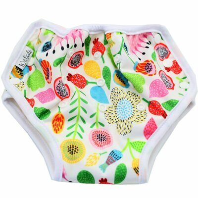 Reusable Bamboo Training Pants Diaper Newborn Baby Toddler Unisex Potty Flowers