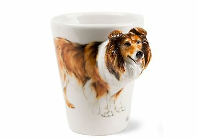Rough Collie Gift, Coffee Mug Handmade by Blue Witch