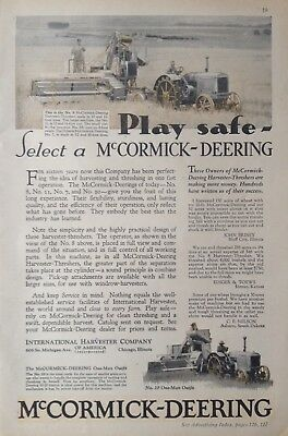 1930 Ad.(Xc6)~International Harvester Co. Mccormick-Deering No.8 Thresher