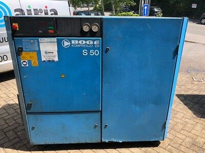 BOGE S50 37kw 215cfm 8bar INDUSTRIAL / GARAGE SCREW TYPE AIR COMPRESSOR