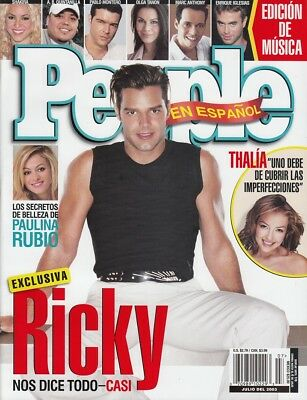 RICKY MARTIN - Vintage Mexican Edition of the US Magazine PEOPLE July 2003 C#39