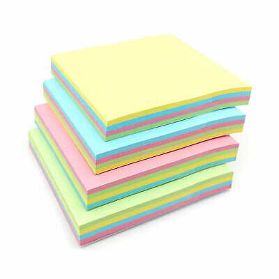 "Pastel Colours Remove It Sticky Post Notes Pads 76mm x 76mm 3x3"" 12 packs of 100"