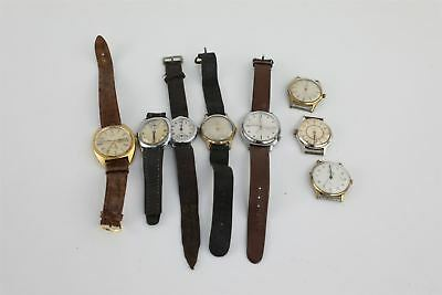 Lot of 8 x Vintage Gents Hand-Wind / Automatic Wristwatches for SPARES 260g