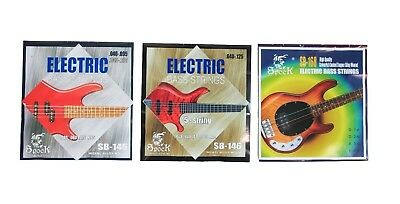Electric BASS Guitar Set of 4 & 5 Strings 40-95 40-125 Spock Multi Colour Silver