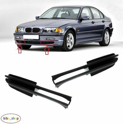 Bmw 3 E46 1998 - 2001 New Front Bumper Fog Light Lamp Cover Grille Left + Right