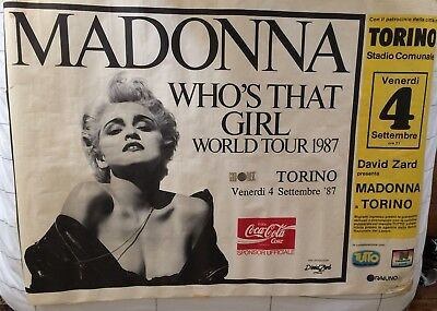 MADONNA Who's That Girl WORLD TOUR 1987 ITALY LARGE POSTER RARE