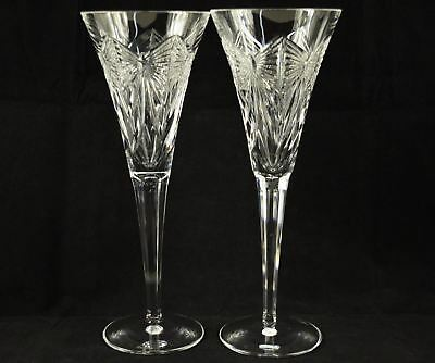 Pair of Waterford Crystal Millennium Happiness Champagne Flutes