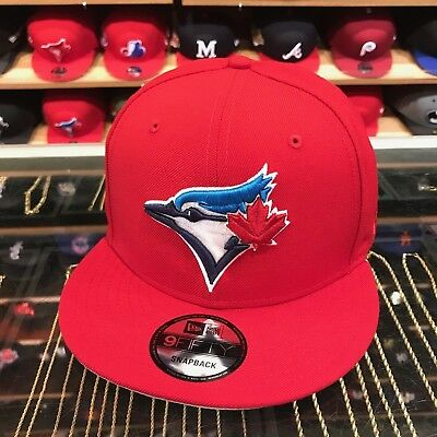 detailing 4282a 82270 New Era Toronto Blue Jays Snapback Hat All Red BLUE Current 30th Season  Patch