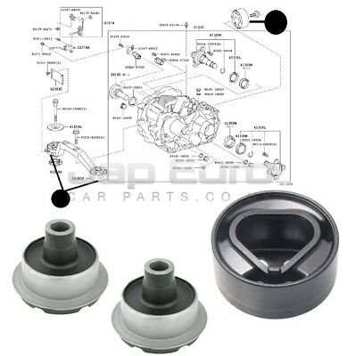 Rear Differential Diff Arm Mount Bushes Kit For Lexus Rx 400H 05-08