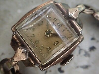 Art Deco Wega 17 Jewell Woman's Watch Can Tick Untested#60