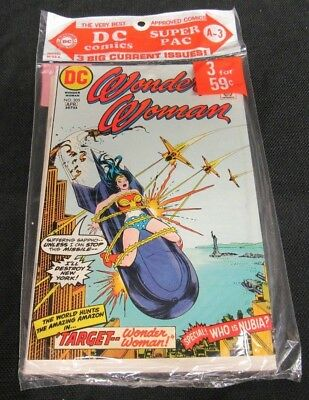 1973 DC Super Pac A-3 (3-Pack Sealed) Wonder Woman #205 Bronze Age CO306