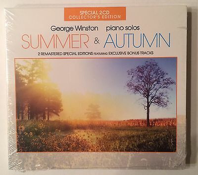 George Winston 'Summer & Autumn' Exclusive Bonus Tracks Collector 2CD (2012) NEW