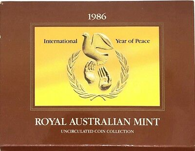 1986 Royal Australian Mint Uncirculated Coin Collection Year of Peace