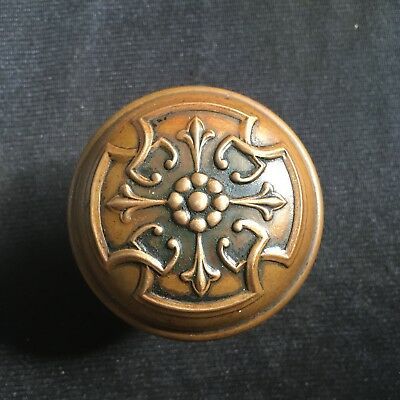 Antique Russell And Erwin . Solid Brass Decorated  Door Knob