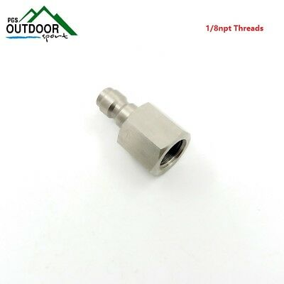 Paintball PCP 8mm Stainless Steel Male Quick Release Disconnect Coupler 1/8npt