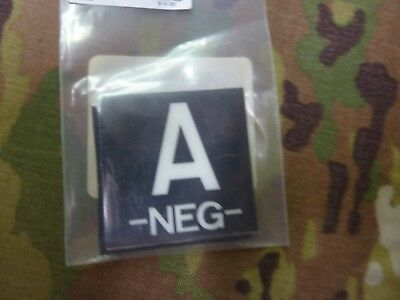Ir Lum Patch With Velcro® Brand Fastener Aws Inc Blood Type A - Neg Sf Cag Nsw