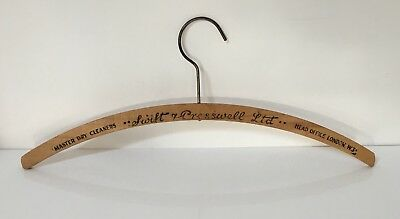 Vintage Wooden London Coat Hanger - Swift & Presswell Dry Cleaners