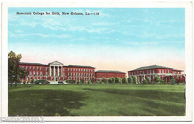 AK US USA Post Card Newcomb College for Girls New Orleans ungelaufen