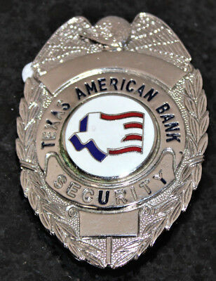 Obsolete Texas American Bank Security Badge