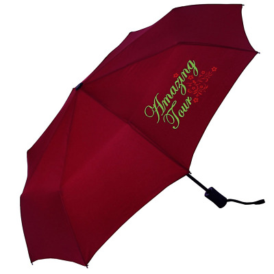 Amazing Tour All-Weather Umbrella Super Light Dual Use Windproof Automatic