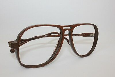 Vintage Atrio Germany aviator Mod 153 58-16-140 1980's brown wood effect