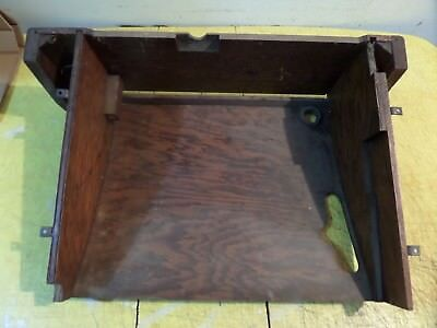 Antique Tiger Oak Singer Treadle Sewing Machine Dust Cover Belly Bottom 1904