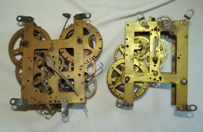 2 Vintage Brass Clock Gear Movements Art and Steampunk Use