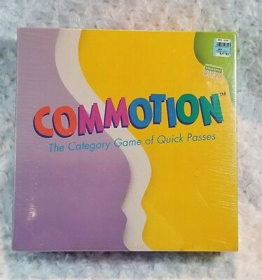 Vintage COMMOTION Game Parker Brothers 1990 Category Game SEALED