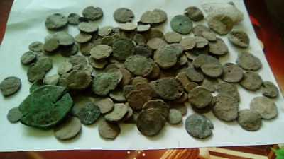 Lot Of 140 Ancient Bronze Roman Coins Bad Quality Uncleaned