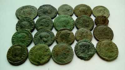 Beautiful Lot Of 20 Ancient Bronze Roman Coins Uncleaned