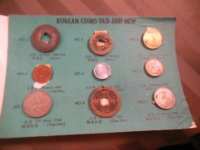 9 Vintage Coins of Korea