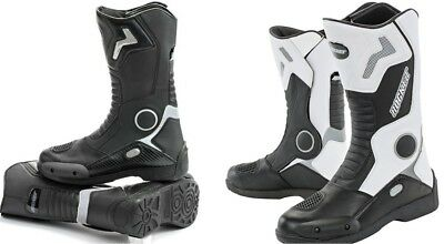"PICK SIZE JOE ROCKET /""RAZOR/"" MOTORCYCLE BOOTS LARGE ENTRY LEATHER REFLECTIVE"