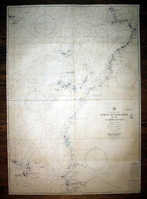 1941 Africa west coast Strait of Gibraltar to the Gambia River sea chart  129881