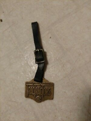 Vintage International Harvester Trac Tractors Brass Key Fob Marquette Michigan
