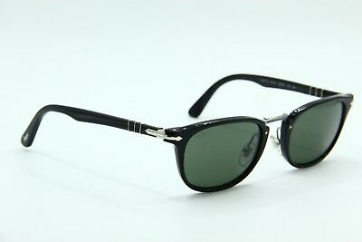 3be0397ac09a7 NEW PERSOL SUNGLASSES 3127-S 95 31 Black Authentic Sunglasses 52-22 ...