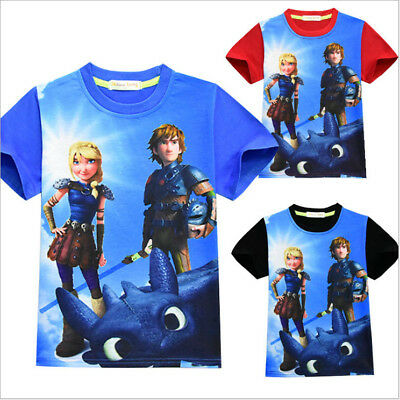 How to Train Your Dragon T shirts Kids Boys Casual Cartoon T shirts Tops Clothes