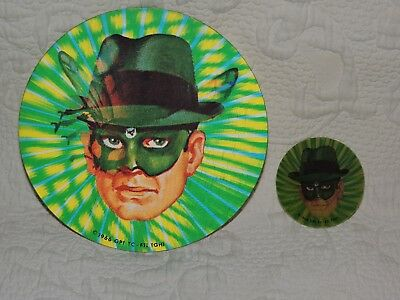 "2 Vintage 1966 Green Hornet Vari-Vue  Discs 7 5/8"" & 3"" van Williams & Bruce Lee"