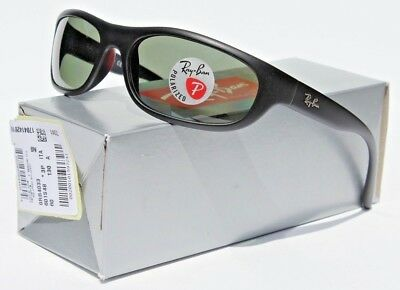f34022cf95 RAY-BAN Predator POLARIZED Sunglasses Matte Black Green Gray RB4033 Italy  NEW