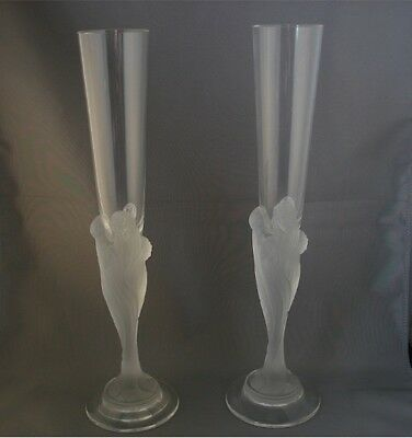 Pair of Erte Majestic Champagne Flute Glasses Set Two