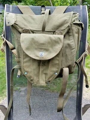 WW2 US Army Military M 1945 Field Combat Pack Backpack w/ 1944 Canteen Pouch