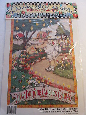 1990 Mary Engelbreit Daisy Kingdom Iron-On Transfer How Do Your Candles Glow?