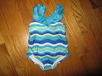 Gymboree Girls 5 Aqua Ruffle Swimsuit