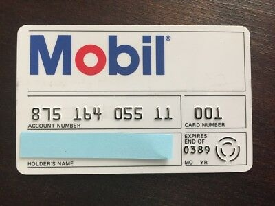 Mobil Oil Gas Advertising Collectible Credit Card Plastic EXPIRED 1989