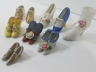 Lot of 9 Collectible Miniature Shoe Figurines